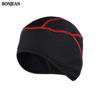 Wholesale ups thermal - BONJEAN Winter Warm Up Fleece Thermal Cycling Caps MTB Bike Bicycle Hats Leisure Outdoor Sports Running Camping Hiking Caps H0