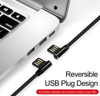 cargador micro usb doble al por mayor-Doble L Flexible Metal USB Tipo-C Cable 2.0A Rápido USB Tipo C Cable de carga para el tipo C Cable usb micro Cargador