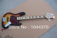 Wholesale Maple Sunburst - 5 stringsThe JAZZ bass Vintage Sunburst electric bass guitar Free Shipping