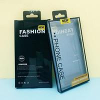 iphone blister achat en gros de-PVC En Plastique Emballage Paquet Boîte Boîte blister titulaire Pour PU En Cuir Téléphone Cas Pour iphone X 7 8 Plus Samsung Galaxy S8 S9 Plus