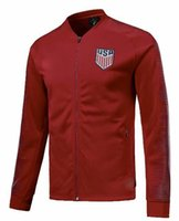 Wholesale american jackets - American Soccer JACKET World Cup 2018 DEMPSEY PULISIC American Football TRACKSUIT