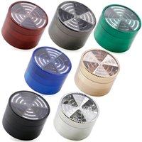 Wholesale windows signal online - Top Window Signal Shape Pieces mm Zinc Alloy Herb Grinder Metal Tobacco Spice Cracker Colors