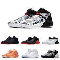 görüntü fille toptan satış-Russell Westbrook Neden Değil Zer0.1 George Adams Ayna Görüntü Kuzey Carolina Basketbol Ayakkabıları Sıfır Bir Siyah Beyaz Gri Eğitim Sneakers
