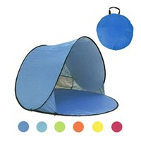 familien-strandzelte großhandel-Strand Zelt Ultraleicht Faltzelt Pop Up Automatische Open Family Tourist Fisch Camping Angeln Anti-UV Voll Sonnenschutz