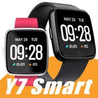 спортивные наручные часы оптовых-Y7 смарт фитнес браслет Mi группа 3 ID115 плюс кровяное давление кислорода Спорт трекер часы монитор сердечного ритма браслет ПК Fitbit Versa ионный