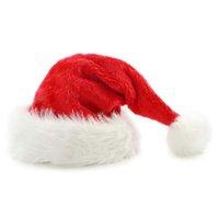 jungen rote hüte großhandel-Plüsch Weihnachten Hüte Weihnachten Urlaub Weihnachten Cap Santa Claus Kinder Frauen Männer Jungen Mädchen Cap für Weihnachtsfeier