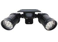 luzes ao ar livre para varanda venda por atacado-Lâmpadas solares de iluminação da parede super brilhante corpo indução lâmpada pátio do jardim varanda à prova d 'água lâmpada ao ar livre casa da lâmpada LED