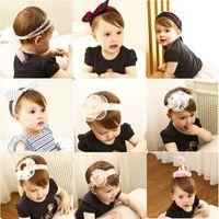 ingrosso rosa bandeau in pizzo-Accessori per capelli per bambina Accessori per capelli in chiffon rosa Fascia per capelli per bambini Accessori per capelli