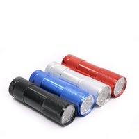 led-fackel-multifunktion großhandel-9 LED Mini Taschenlampe UV Taschenlampen Multifunktions Tazer für Camping Sicherheit 3AAA batteriebetriebene tragbare und praktische 2 5jf ZZ