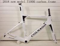 ud matte straßenräder großhandel-2018 NEUE colnago concept T1000 UD carbon vollcarbon rennrad rahmen fahrrad frameset weiß schwarz farbe, verkauf räder