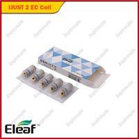 kit eleaf tc al por mayor-Auténtico Eleaf ijust2 TC Coils EC 0.15ohm Reemplazo de control de temperatura Cigarrillos electrónicos Cabezal de bobina Fit Ijust 2 Atomizer Kit