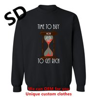 Wholesale Rich Coats - 2018 Funny 3D Hoodies Men Time To Buy Miota To Get Rich cryptocurrency men's sweatshirts Custom 3D Tops Clothing Coat Plus Size