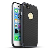 Wholesale Apple Dot - iPaky Case For iPhone 7 Plus Bumblebee Back Cover Rugged Armor Dotted Grids Texture PC+TPU 2 In 1 Thin Hybrid Cases In Stock
