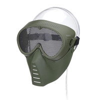 Wholesale metal mesh half face mask resale online - Airsoft Mask Half Face Metal Steel Net Mesh Mask Hunting Tactical Outdoor Protective CS Halloween Party Half Cycling Face Mask