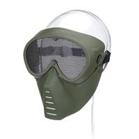 rede protetora venda por atacado-Máscara de Airsoft Meia Face Máscara de Malha de Malha de Rede De Metal Ao Ar Livre Tático de Proteção CS Halloween Party Meia Máscara de Ciclismo Ao Ar Livre