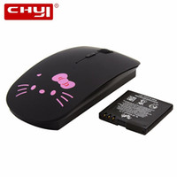 697247fbf CHYI Hello Kitty Wireless Mouse Wireless Slim HelloKitty Gaming Mouse Sem  Fio Gamer Rechargeable Computer PC Mice For Girl Gift