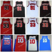 Wholesale ncaa orange - NCAA Oklahoma Savages 91 Dennis Rodman Jersey The Worm 10 Dennis Rodman Men 33 Scottie Pippen College Basketball Jerseys Stitched Movie