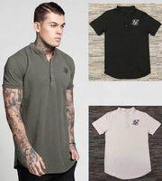 neue männer polos stile großhandel-US UK Style Sommer 3 FARBEN Neue Marke Männer Poloshirt SILK SIL Mode Polo Shirts Männer Kurzarm Polos