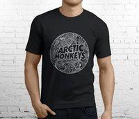 monos de roca al por mayor-Nuevo Popular The Arctic Monkeys British Rock Band Camiseta negra para hombre Talla S-3XL