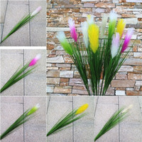 Wholesale reed flowers for sale - Group buy New Artificial Reed Plants green reed grass plant Home Wedding Party Office Decoration reed Plants T3I0355