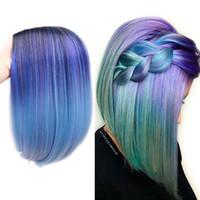 ingrosso parrucche blu rosa-Parrucca da 14
