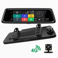 "Wholesale rearview dvr - 4G Car DVR 9.88"" Full Touch Screen ADAS Remote Monitor Rear view mirror with Dual len Camera Android 5.1 GPS 1080P WIFI Recorder"