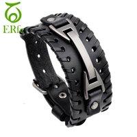 anchos cinturones marrones para mujer al por mayor-ER punk genuino ancho  negro pulsera de e9dec98c6dc7