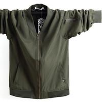 жирная мода оптовых-2018 New Fashion  Casual Large size jacket men Fat and fat Mens jaqueta masculina plus size 5XL 6XL 7XL