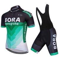 ingrosso corti ciclismo bora-BORA 2017 nuova squadra pro Ciclismo maglia 9d Gel Pad Anti Uv Bib Shorts Set Ropa Ciclismo Quick Dry Shirt Bicicletta Maillot Suit