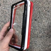 estojos ultra finos e finos cobre transparente venda por atacado-Luxo ultra fina slim 2 em 1 tpu + acrílico híbrido caso celular ultra transparente tampa traseira à prova de choque TPU borda celular case protetor