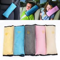 Wholesale vehicle fabric - Seatbelt Pillow Cushions Kids Auto Pillow Car Safety Belt Protect Shoulder Pad Adjust Vehicle Seat Decorative Pillow 5 Color WX-S01