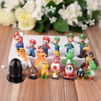 Wholesale ornament hangers - Originality Mario Ornament Lovely Cartoon Garage Kit doll Phone hanger Mini Cute Figures Action Toy Doll For Kids 1 65xl WW