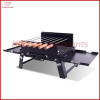 Wholesale Grill Doors - KLJ01 out door charcoal bbq rotisserie roaster grill with motor spit kit for household commerical use