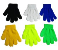 варежки для детей оптовых-Детских Мальчики Зимних перчаток Дети Kint Акриловые Теплая магия перчатка пальцевой Натяжное Kintting варежка Cut Bulk пакет перчатка Solid Color