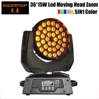 Wholesale lcd head resale online - Freeshipping TP L621A x15W RGBWA IN1 Tyanshine Led Moving Head Zoom Light Color Led Washer Effect Silent Smooth Zoom Dimmer LCD Display