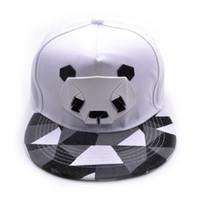 Wholesale ball panda - New Cartoon Panda Adjustable Baseball Caps For Youth Men Women Fashion Animal Cap Hip Hop Sun Bone Snapback Summer 9fy aa