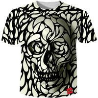 Wholesale Cool Skull Designs - Cloudstyle 3d Men Tshirt 2018 New Fashion Hot Design 3d Skull Print Tees Tops Summer Cool High Street Wear Plus Size 5xl