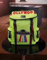mochila grande para hombre al por mayor-Venta caliente para hombre Mochila Mochilas de gran tamaño Hollywood Mochila OVNI Mochila para hombre Hollywood UFO Mochilas de color verde Hombres Bolsa de calidad superior