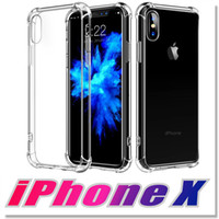 Wholesale high corner - High Quality Cases For iPhone X Case Crystal Clear Reinforced Corners TPU Bumper Cushion Anti-scratch Hybrid Rugged Transparent Panel Cover