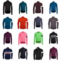 новая одежда для rapha cycling оптовых-New Hot RAPHA team Велоспорт с длинными рукавами трикотаж 2018 Новые поступления одежда для велосипеда с множественным выбором Простой Мужчины с длинным рукавом D0407