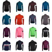 nuevo rapha jersey al por mayor-Nuevo equipo RAPHA caliente Ciclismo manga larga jersey 2018 Recién llegados ropa de bicicleta Múltiples opciones Hombres simples manga larga D0407