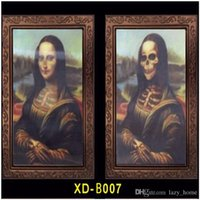 Wholesale 3D Halloween Ghost Painting Soul House Decoration Face Change Photo Frame for Horror Props Stage Performance Tools