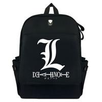 ingrosso nota di morte nera-anime Death Note Nero Canvas Backpack Laptop Bag Borsa da viaggio a tracolla viaggio uomini donne zaino pacchetto