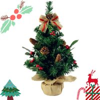 Wholesale Home Office Products - 50cm 30cm Mini Christmas Gift Tree Ornaments Bedroom Desk Decoration Holiday-related Products Toy Doll Gift Office Home Children
