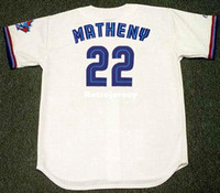 Maglie personalizzate personalizzate MIKE MATHENY 1999 Majestic Throwback Home Baseball Jersey