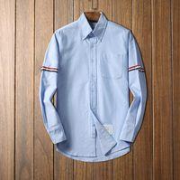 camisas de hombre de lujo formal al por mayor-de lujo de diseño a rayas de algodón blanco forma de la camisa de manga larga de los hombres camisas formales para los hombres con el bolsillo para hombre camisas de vestir regular de ajuste D3 por mayor