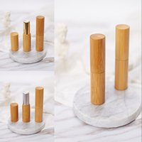 Wholesale gold lipsticks for sale - Group buy 3 g Silver Gold Empty Bamboo Wooden Lipstick Tube DIY Lip Beauty Tool Natural Bamboo Lip Cream Container mm