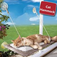 lits hamacs de chat achat en gros de-Fenêtre d'hamac de style ventouse Fenêtre se prélassant à la fenêtre Coussin de chaise Sunny Dog Cat Lit suspendu à une étagère idéale pour plusieurs chats