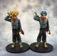 Wholesale figure warriors resale online - Original DXF the super warriors son goku black super saiyan trunks DRAGON BALL Z figure toy model toys
