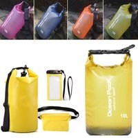 Wholesale travel kit clothes for sale - Waterproof Beach Bag bucket Outdoor Floating Swimming Boating Camping Travel Kit Drifting Folding Storage Bag Dry Bag Can FBA Ship HH7